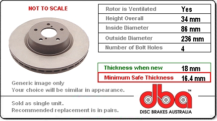 DBA412 disc brake rotor, no longer available