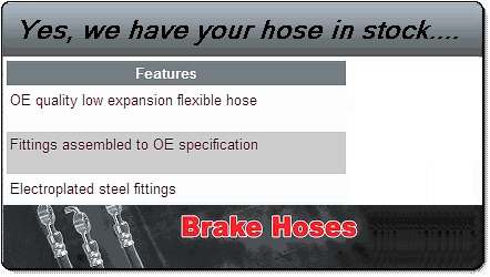 H1985 flexible brake hose